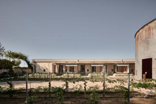 Dexamenes Couryard WineTank Suites View