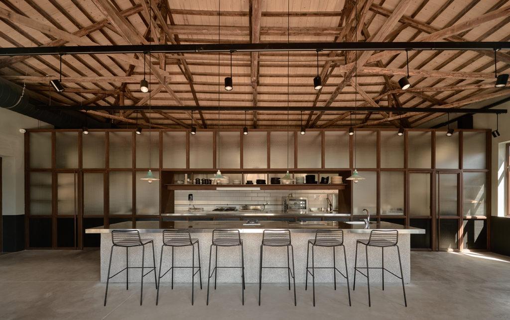 dexamenes°° Restaurant. Interior. Ex Engine Room of the winery